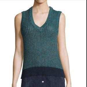 Rag & Bone Carmen Knit Blue Sweater Vest Tank
